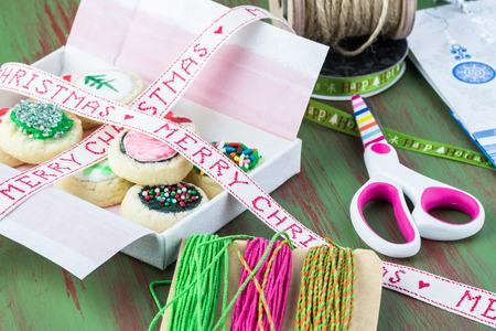 stuff: Homemade christmas cookies and packaging stuff for Christmas gift.