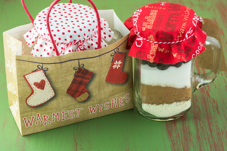 Hot cocoa mix jar gift for Christmas.