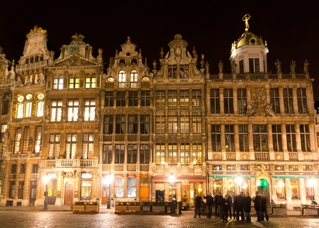Ornate buildings of Grand Place, Brussels, Belgium photo