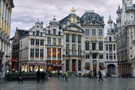 brussels: Ornate buildings of Grand Place, Brussels, Belgium