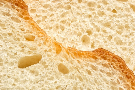 close up shot of white bread slice photo
