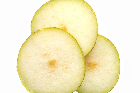 close up shot of sweet pear in slices Stock fotó