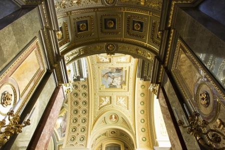 Interior of St. Stephens Basilica, Budapest, Hungary