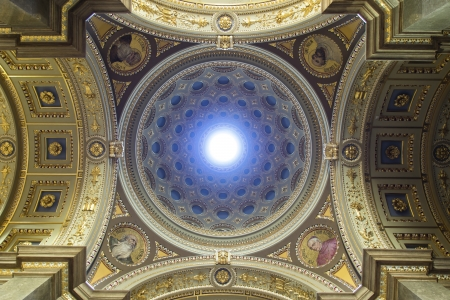 Interior of St. Stephens Basilica, Budapest, Hungary