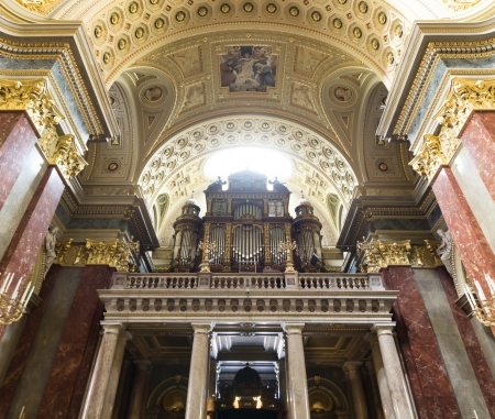 Pipe organ of St. Stephens Basilica, Budapest, Hungary
