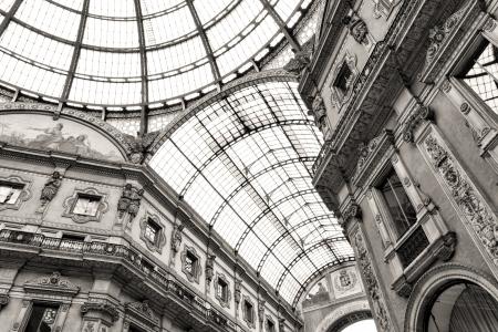 vittorio: Shopping art gallery in Milan. Galleria Vittorio Emanuele II, Italy
