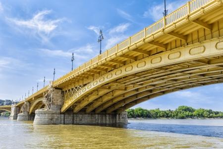 renewed: Renewed Margit Bridge in the Budapest, Hungary Stock Photo