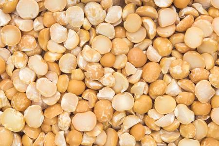 split up: close up shot of split peas background