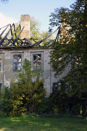 View to a near-derelicted ruin of a manor house in Brandenburg, Germany Reklamní fotografie