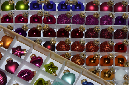 Beaded baubles for colorful Christmas tree decorations