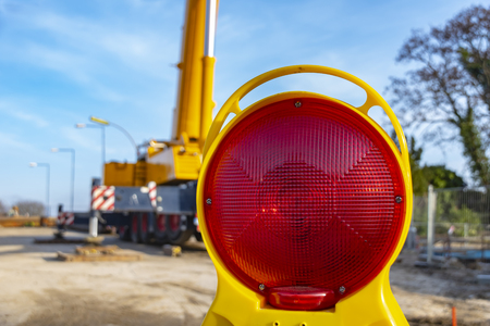 Equipment of a construction site, on which the new railway line for the