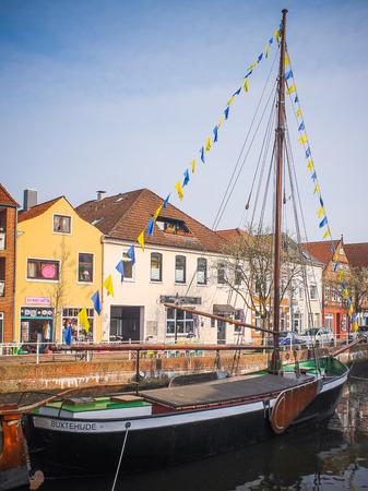 Yacht in Buxtehude Редакционное