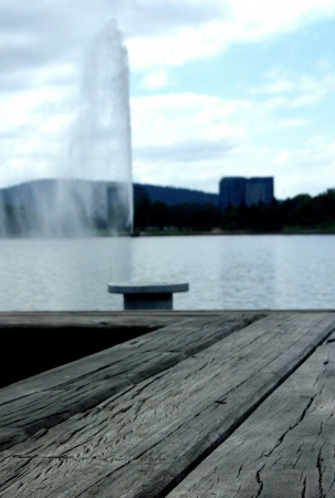 Captain Cook fountain, lake Burley Griffin, Canberra, Australia Stock Photo - 16882540