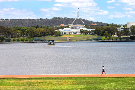 New and old parliament house Canberra Australia