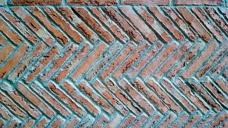 Herringbone brick pattern wall floor. Imagens - 106960447