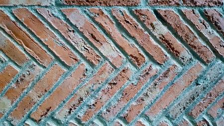 Herringbone brick pattern wall floor. Imagens