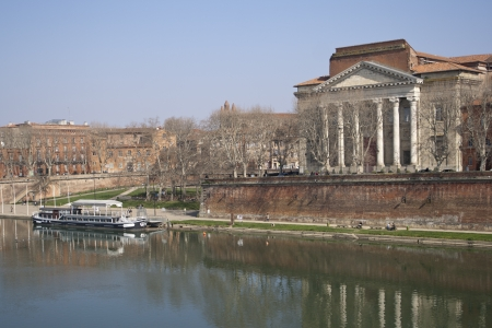 daurade: View of the quay of the Daurade in Toulouse, France. Stock Photo
