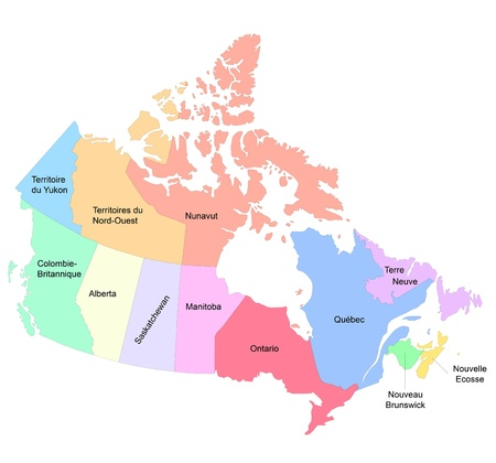 manitoba: An illustration of a map of Canada