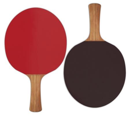 Illustratie van tafel tennisrackets