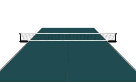 Een illustratie van een tafel van pingpong Stockfoto