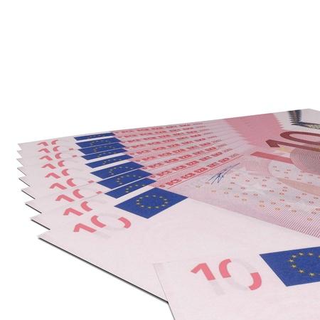 wad: Illustration of wad of 10 euro