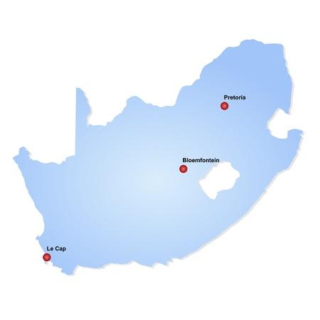 le cap: Mapa de Sud?frica Foto de archivo