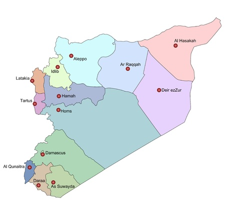 Map of Syria photo