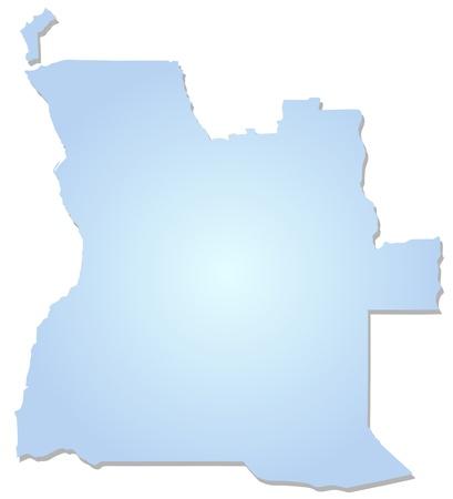 angola: Map of Angola