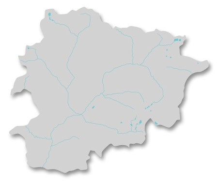 tourism in andorra: Map of Andorra