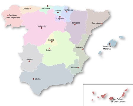 Map of Spain photo