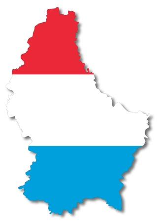 luxembourg: Map and flag of Luxembourg