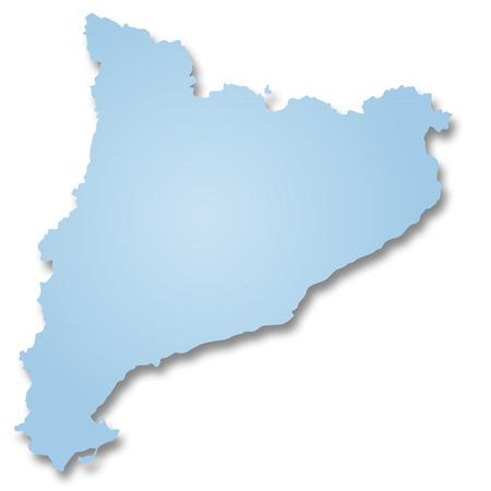 catalonia: Map of Catalonia Stock Photo