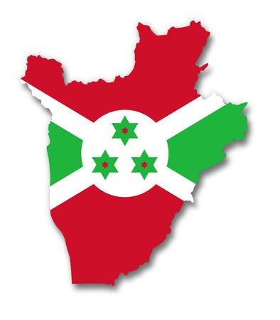 burundi: Map and flag of Burundi