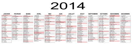 基本的なカレンダー 2014 年