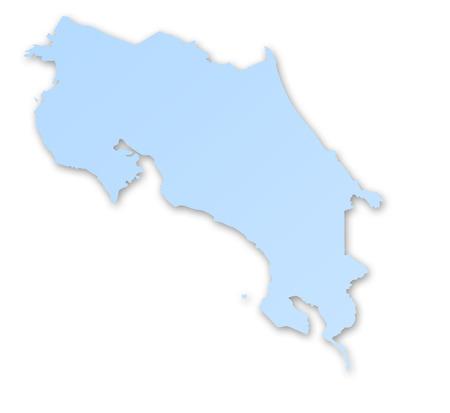 costa rica: Map of Costa Rica