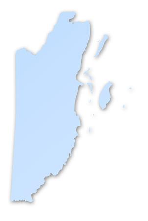 belize: Map of Belize