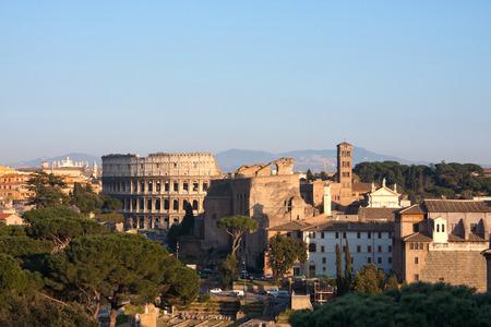 lazio: View on the Colosseum in Rome, Italy