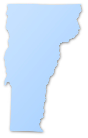 Illustration of a map of the State of Vermont, USA