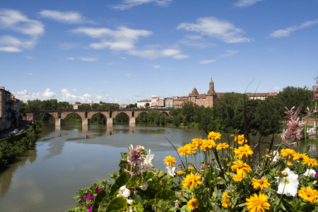View on the city of Montauban