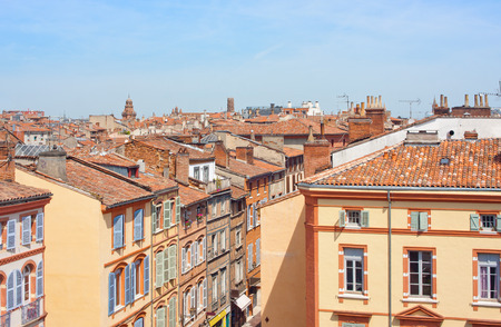 frontage: View on the roofs of Toulouse France