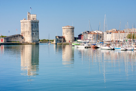 View on the port of La Rochelle in France Stock Photo