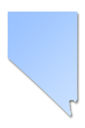 Illustration of a map of Nevada
