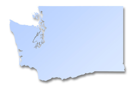 Illustration of a map of Washington