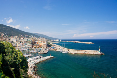 View on the port of Bastia in Corsica, France