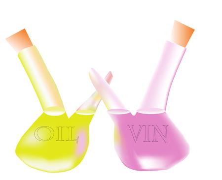 Oil and vinegar bottle set Illustration