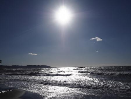 Sunrise view at The Shonan coast 스톡 콘텐츠