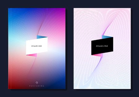 Conjunto del extracto folleto colorido diseño, revista, folleto, diseño de folletos, la cubierta o el informe en formato A4.