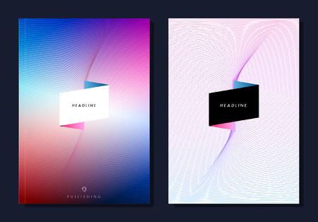 Set van abstracte kleurrijke lay-out brochure, tijdschrift, flyer, brochure ontwerp, dekking of rapport in A4. Stockfoto - 52680743