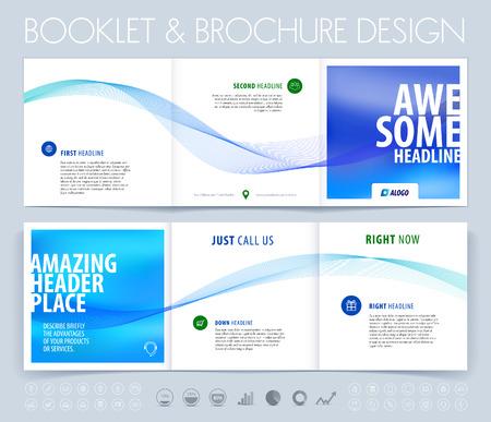 Zakelijke brochure, flyer en hoesontwerp layout template met blauwe grijze veelhoekige achtergrond.