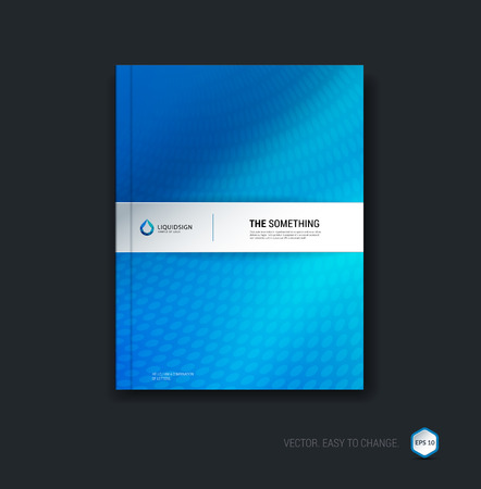 Business brochure, flyer and cover design layout template with blue colourful background.